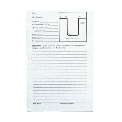 60 Page 3-Ring Replacement Dive Logs Only